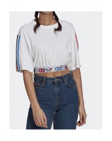 T-SHIRT ADIDAS PRIMEBLUE TRICOLOR CROPPED (GN6979) ADIDAS 35,00€