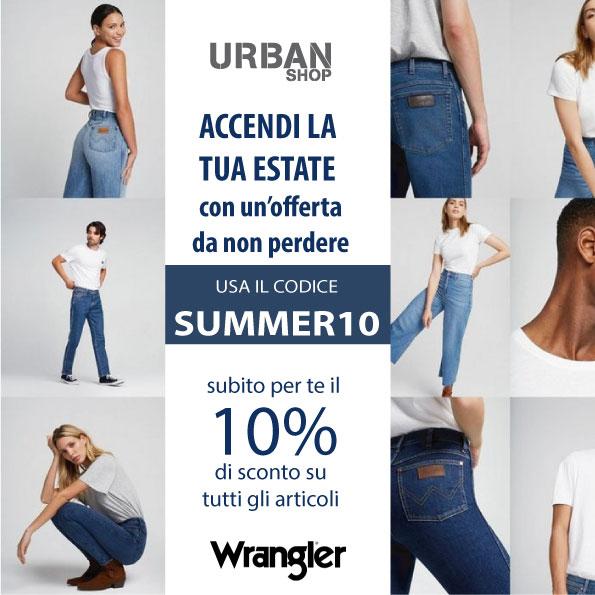 wrangler abbigliamento sconto 10% urban shop latiano